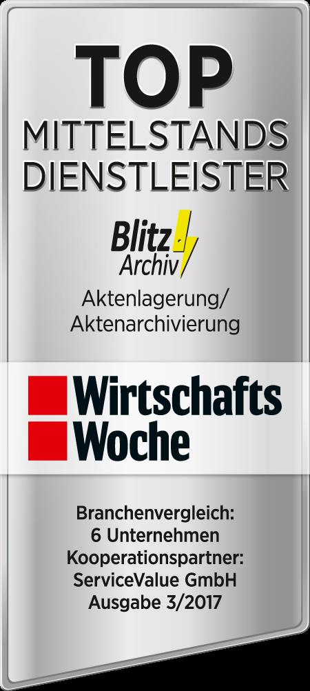 Wirtschaftswoche zeichnet BlitzArchiv als Top Mittelstand Dienstleister aus